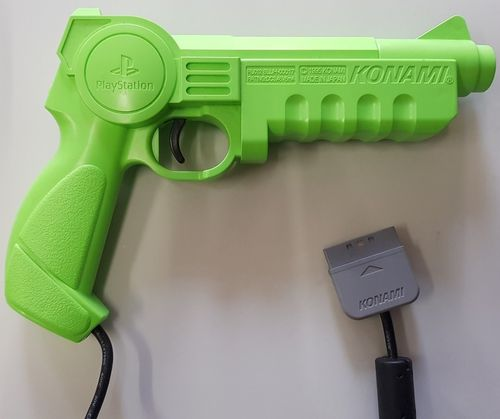 Sony PlayStation Konami Green Justifier Light Gun Controller (PS1)